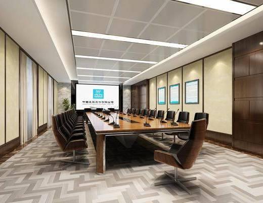 會議室, 桌椅組合, 宣傳畫, 投影儀