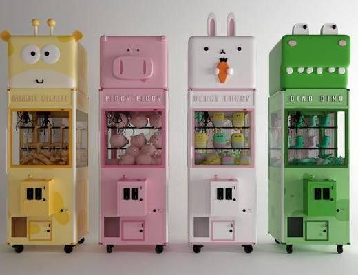 夹娃娃机, 游乐设备