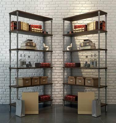 工业风柜架, 装饰架, 装饰柜, 铁艺装饰架, 金属装饰柜, 复古装饰架, 个性装饰架