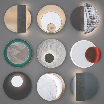 现代, 墙饰, 壁灯, 灯具