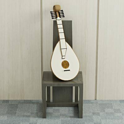 古琴, 琵琶, 高背椅, 单人椅, 现代