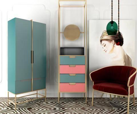 现代单椅, 现代边柜, 边柜, 置物柜