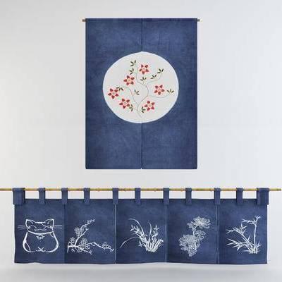 日式门帘, 寿司窗帘, 布帘, 日式窗帘