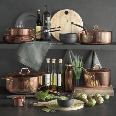 餐具, 厨具, 食物, 现代
