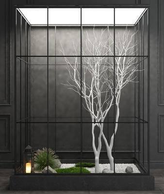 树枝干枝, 园艺小品, 树木, 干树枝, 新中式