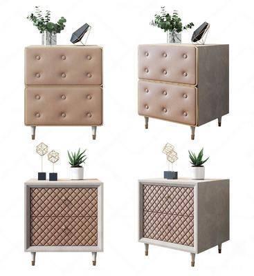 现代床头柜, 床头柜组合