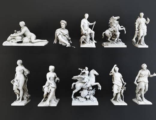 欧式雕塑, 人物雕塑, 雕刻, 摆设品, 装饰品