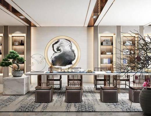 茶桌, 桌椅组合, 墙饰, 茶具组合