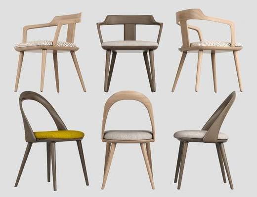 单椅, 休闲椅, 实木椅