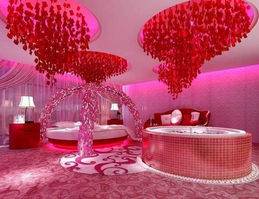 酒店客房, 双人床, 现代客房, 主题客房