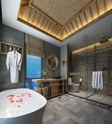 工业风浴室, 浴室, 卫生间
