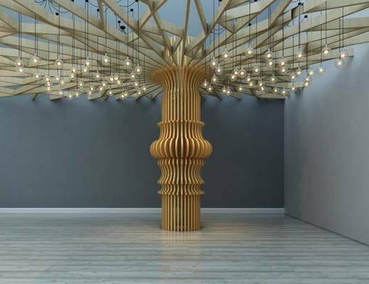 园艺小品, 吊灯, 现代