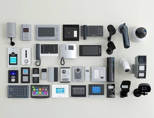 现代可视对讲门铃, 电视电话, 监控摄像头