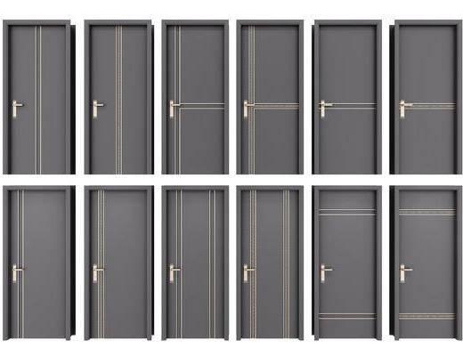 单开门, 平开门, 门组合, 新中式