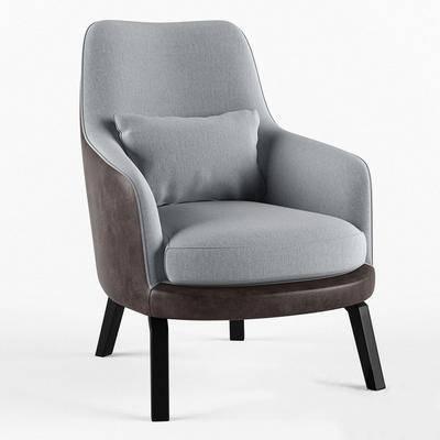 现代, 单椅, 沙发椅
