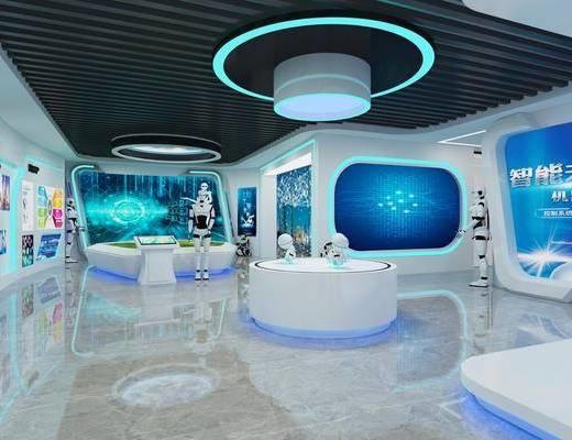 展廳, 科技展廳, 現代科技展廳, 展覽, 展柜