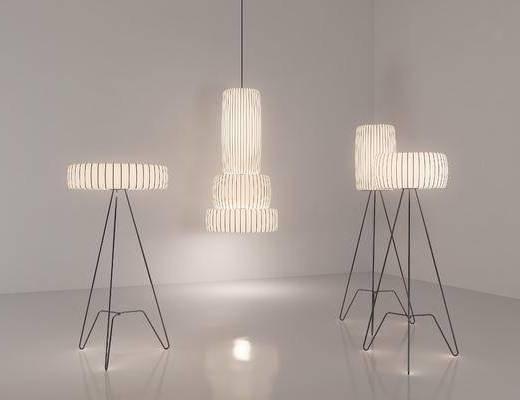 新中式, 落地灯, 灯具