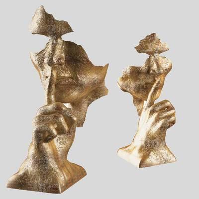 人物, 面具, 雕塑, 现代, 现代雕塑