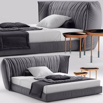 双人床, 椅子, 现代