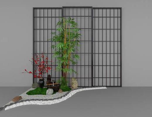 竹子, 景观小品, 屏风