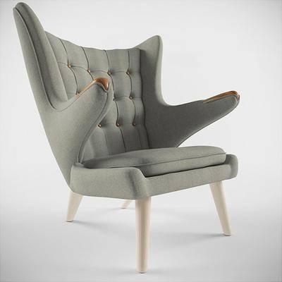 单人沙发, 布艺沙发, 现代