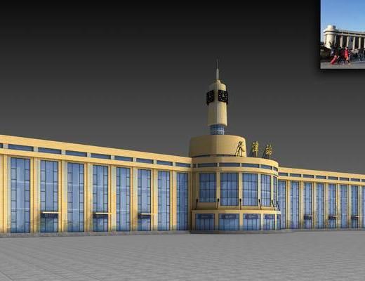 公共建筑, 火车站, 天津火车站, 现代