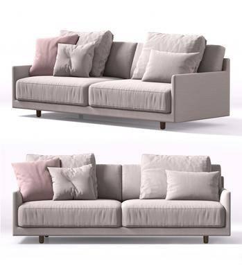 双人沙发, 布艺, 沙发, 现代双人沙发, 现代