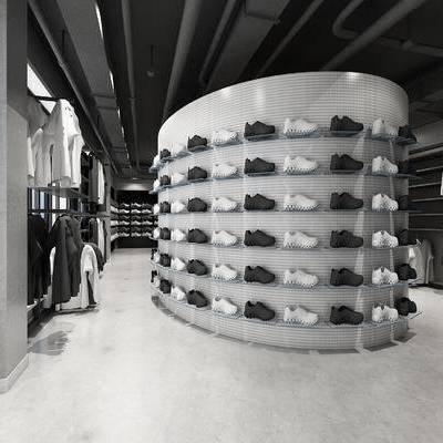 服装店, 鞋店, 工业风店铺, 店铺, 鞋子, 衣服