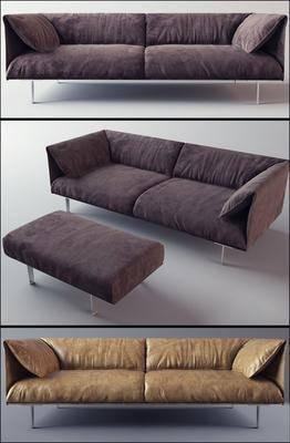 沙发, 双人沙发, 脚踏沙发, 沙发凳, 现代