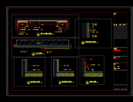 CAD, 家装施工图, 平面图, 立面图