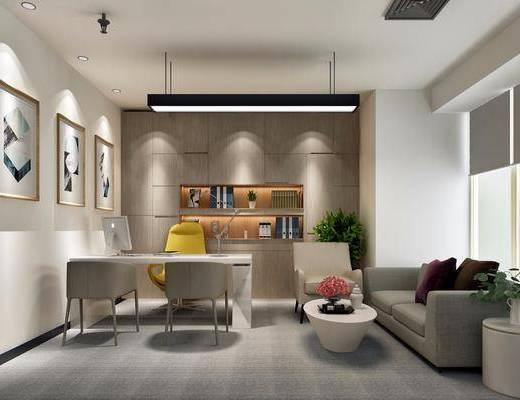 桌椅組合, 裝飾畫, 吊燈, 沙發組合, 茶幾, 擺件組合