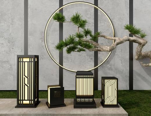 灯具, 装饰品, 户外灯, 植物