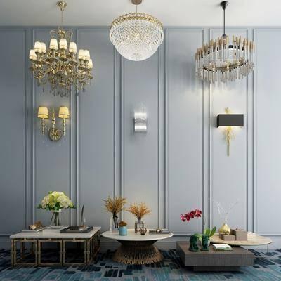 茶几, 吊灯, 壁灯, 装饰品, 陈设品, 吊灯组合, 壁灯组合, 现代
