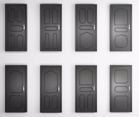 烤漆房门, 平开门, 现代