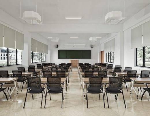 大学教室, 课桌, 培训室, 培训桌椅, 办公桌, 办公椅