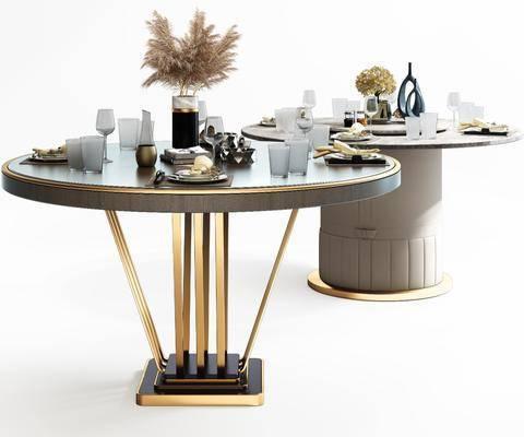 餐桌, 摆件组合, 花瓶