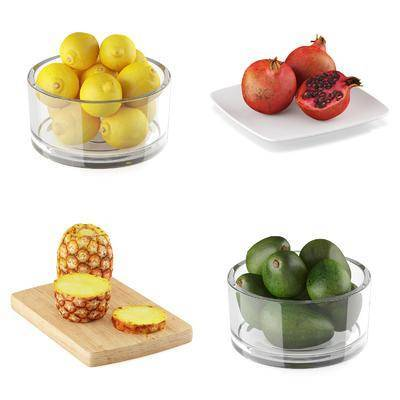 水果, 玻璃碗, 现代, 双十一
