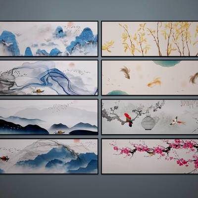 中式挂画, 中式山水画, 中式装饰画