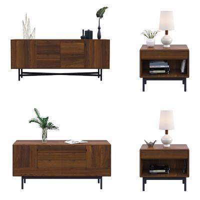 柜架组合, 现代柜架组合, 电视柜, 装饰柜, 床头柜, 摆件组合, 花瓶, 书籍, 现代装饰柜, 现代