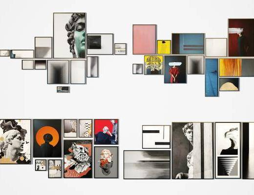 装饰画, 挂画, 组合画, 人物画, 现代