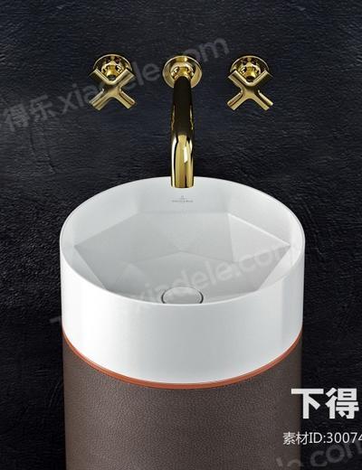 洗手盆, 水龙头, 现代洗手盆, 金属, 皮革, 现代