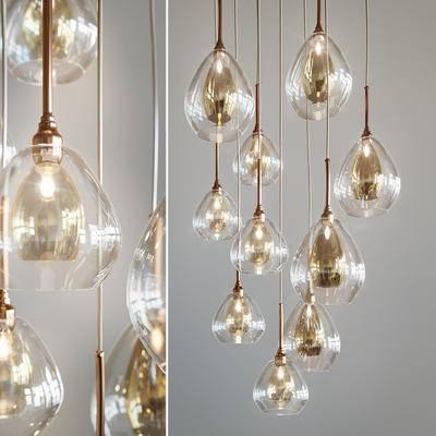 吊灯, 玻璃吊灯, 现代, 灯