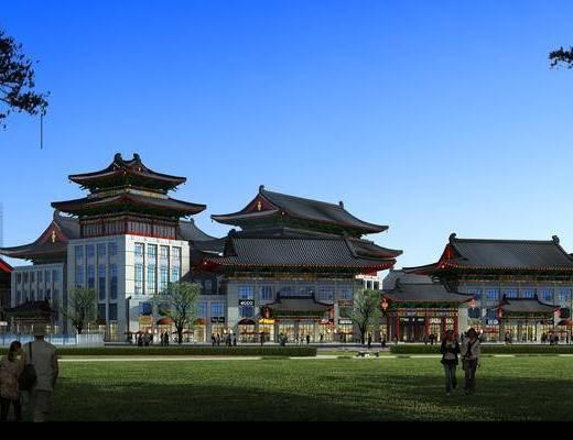外观, 外景, 古建, 中式