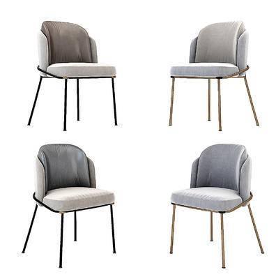 现代轻奢单椅, 椅子餐椅