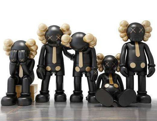 现代风格装饰玩偶, Kaws
