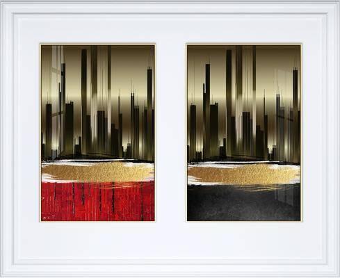 装饰画, 挂画, 照片墙, 抽象画, 艺术画, 组合画, 现代