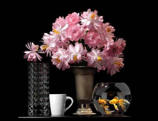 现代简约, 现代花瓶, 现代鱼缸, 现代杯子, 下得乐3888套模型合辑