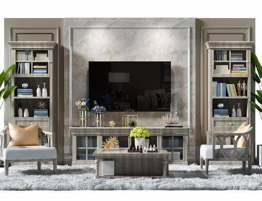 欧式, 美式, 古典, 田园, 沙发组合, 电视柜, 书柜, 茶几, 单人沙发, 休闲沙发