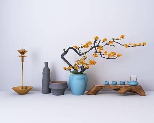 装饰品, 摆件, 花瓶, 烛台, 茶具