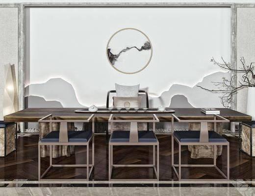 茶桌椅, 茶具, 矮凳, 摆件, 装饰品